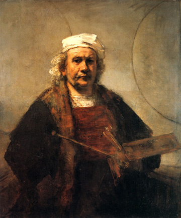 Rembrandt Self-Portrait with Two Circles