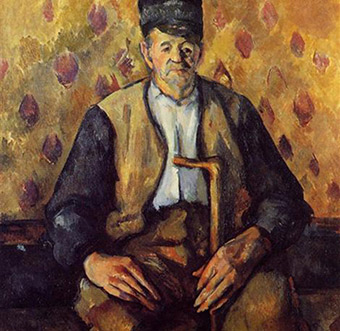 Paul Cezanne, Seated Peasant, c.1900-4, Oil on canvas, 28.3 x 23 inches, Musee d'Orsay, Paris