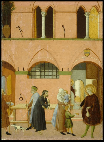 Master of the Osservanza, Saint Anthony Distributing His Wealth to the Poor