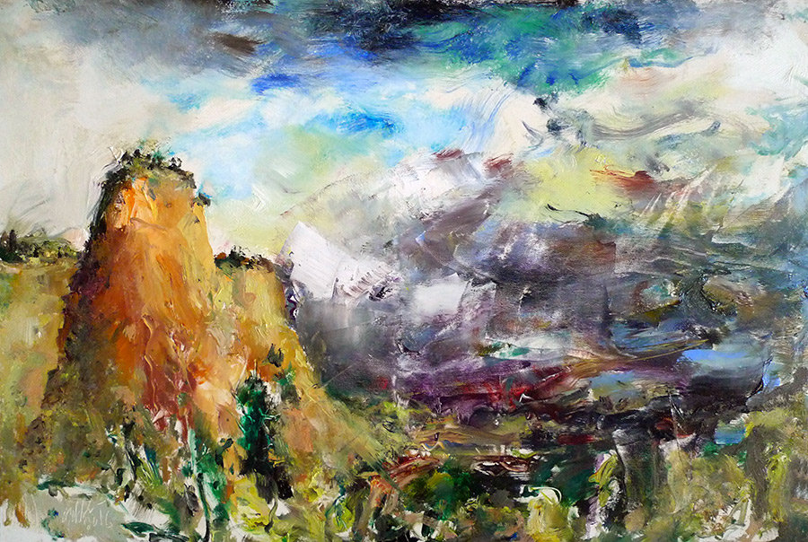 Raoul Middleman painting, Approaching Storm