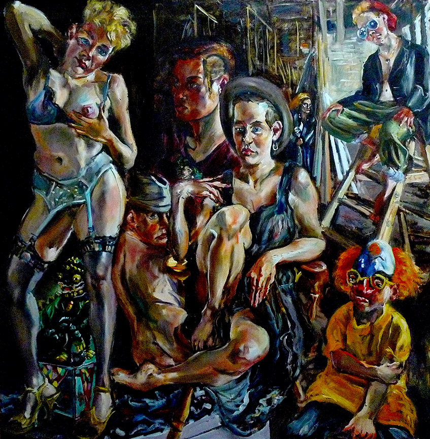 Raoul Middleman painting, Bluebeard's Basement