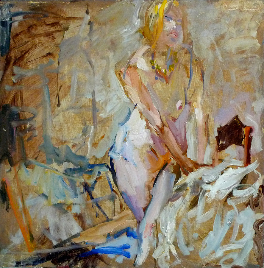 Raoul Middleman painting, Nude